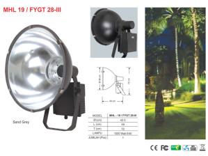 Lampu Sorot 1000 Watt Zetalux Model Corong