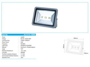Lampu Sorot LED 150 Watt HL-5115 Hinolux
