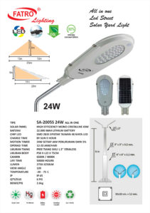 Lampu Jalan LED All In One 24 Watt