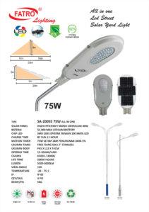 Lampu Jalan LED All In One 75 Watt
